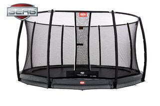 Berg Champion trampoline inground + safetynet deluxe 430 cm grijs Grijs