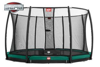 Berg Champion trampoline inground + safetynet deluxe 330 cm groen Groen