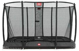 Berg Ultim Champion + safetynet de luxe trampoline inground 220 x 330 cm grijs Grijs
