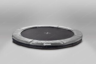 12 Springs Extra trampoline inground 430 cm met premium beschermrand grijs Grijs