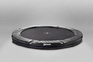 12 Springs Extra trampoline inground 430 cm met premium beschermrand zwart Zwart