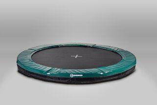 12 Springs Extra trampoline inground 365 cm met premium beschermrand groen Groen