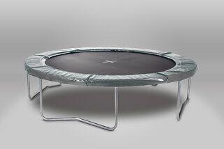 12 Springs Extra 305 cm grijs Randkussen Grijs