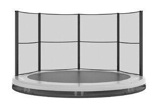 Akrobat Grasshopper trampoline inground 250 cm met medium beschermrand grijs Grijs