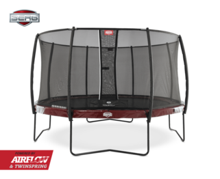 Berg Elite 330 rood + Safety Net Deluxe Rood