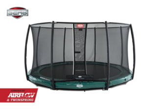 Berg InGround Elite 380 groen + Safety Net Deluxe Groen