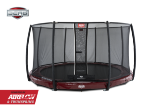 Berg InGround Elite 380 rood + Safety Net Deluxe Rood
