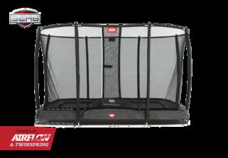 Berg trampoline op poten Ultim Champion + safetynet deluxe 220 x 330 cm grijs Grijs