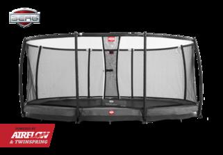 Berg Grand champion trampoline inground + safetynet deluxe 515 x 365 cm grijs Grijs