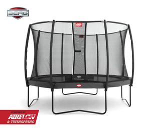 Berg Champion trampoline op poten + safetynet deluxe 430 cm grijs Grijs