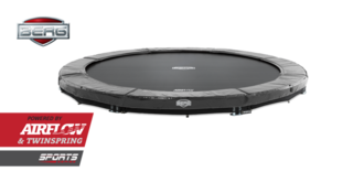 Berg Elite trampoline inground 380 cm grijs Grijs