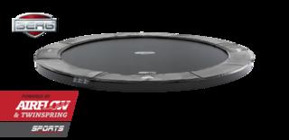 Berg FlatGround Champion trampoline 380 cm grijs. Grijs