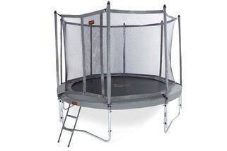 Avyna Pro-line trampoline op poten met veiligheidsnet en glasfiber 430 cm met medium beschermrand grijs Grijs