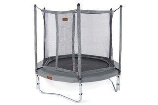Avyna Pro-line trampoline op poten met veiligheidsnet en glasfiber 245 cm met medium beschermrand grijs Grijs