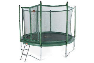 Avyna Pro-line trampoline op poten met veiligheidsnet en glasfiber 430 cm met medium beschermrand groen Groen