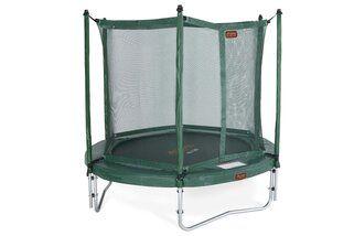 Avyna Pro-line trampoline op poten met veiligheidsnet en glasfiber 245 cm met medium beschermrand groen Groen