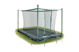Avyna Pro-line trampoline inground rechthoekig met veiligheidsnet 520 x 305 cm met medium beschermrand groen Groen
