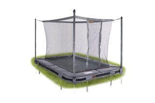 Avyna Pro-line trampoline inground rechthoekig met veiligheidsnet 520 x 305 cm met medium beschermrand grijs Grijs
