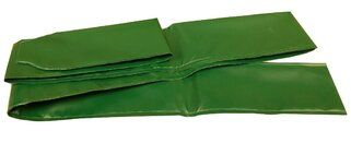 PVC 0,6 mm sleeve, groen - 2,2 m (1 stuk) Groen
