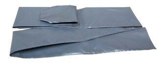 PVC 0,6 mm sleeve, grijs - 2,2 m (1 stuk) Grijs
