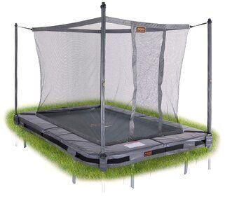 Veiligheidsnet grijs voor TEPL-23 trampoline + tool Grijs