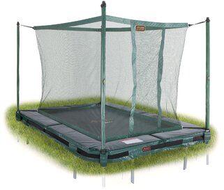 Veiligheidsnet groen voor TEPL-213 trampoline + tool Groen