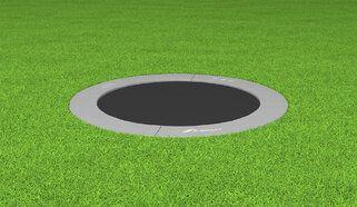 Akrobat Primus professionele trampoline Flat to the Ground 250 cm met premium beschermrand grijs grijs