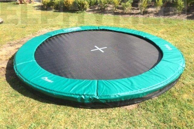 akrobat grasshopper trampoline inground 250 cm met medium beschermrand groen trampolines ben. Black Bedroom Furniture Sets. Home Design Ideas